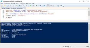 Powershell Set Description of a Computer remotely