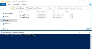 Remove Windows apps using an xml file