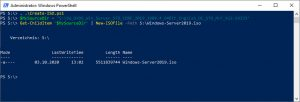 Create ISO File with Powershell