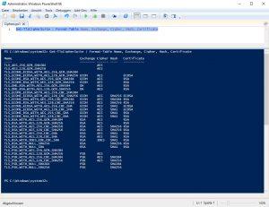 Default Cipher WIndows Server 2019