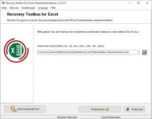Excel Datei analysieren und reparieren