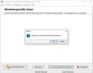 Excel Datei wiederherstellen