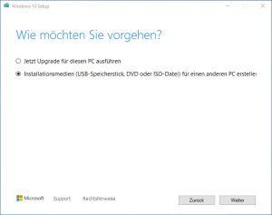 MediaCreationTool20H2 USB-Stick