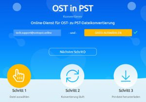 Online service for OST to PST file conversion