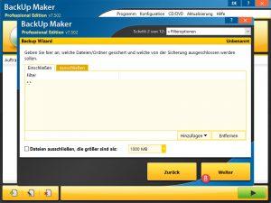 BackUp Maker Experten Optionen