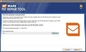 SFWare PST Repair Tool