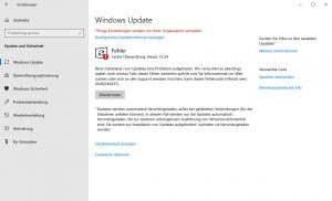 Windows Update Fehlercode 0x80240438
