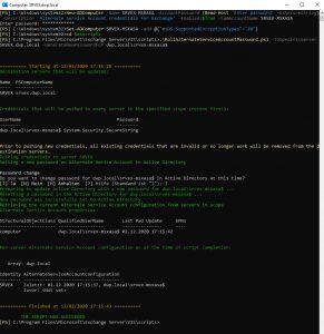 Den ASA Account dem ersten Exchange Server zuweisen