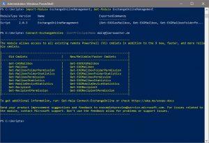 ExchangeOnlineManagement Modul installieren, importieren und anmelden