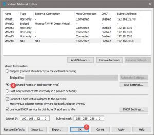 NAT shared hosts IP address with VMs