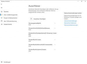 Windows Defender Antivirus für Exchange Server konfigurieren