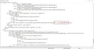 Exchange OWA ECP Login Seite anpassen
