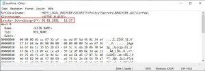 Computerkennwort zuletzt geändert
