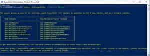 Exchange Online Management installieren ohne MFA Nutzung