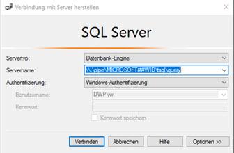 Interne Windows Datenbank (WID) RAM konfigurieren