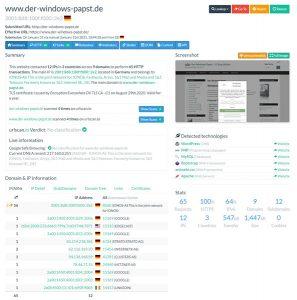 Webseiten inspizieren - Seiteninspektor