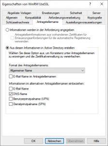 WinRM Zertifikat Konfiguration