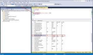 set max server memory WID Database