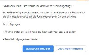 Adblock Plus Erweiterung installieren