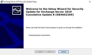 Exchange Server 2019 Cumulative Update 8 KB4602269