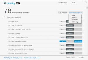 Ashampoo AntiSpy Pro für maximalen Datenschutz