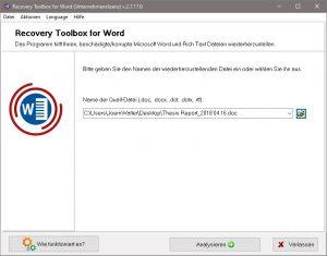 beschädigte Word Dateien zuverlässig reparieren