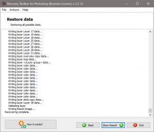 Photoshop Restore Data