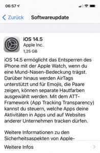 Apple iPhone Update iOS 14.5