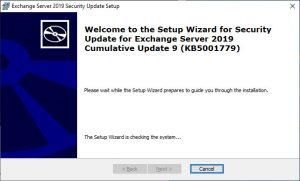 Exchange Security Update KB5001779