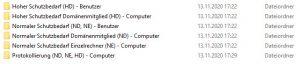 Sammlung von Sicherheitseinstellungen für Windows