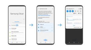 Samsung Cloud-Datendownload in den eigenen Speicher