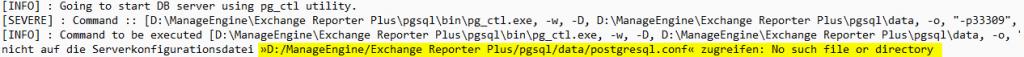 postgresql.conf no such file or directory