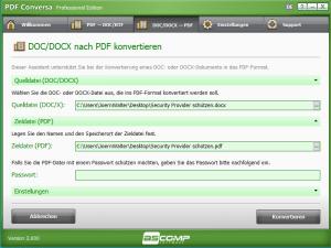 DOC DOCX nach PDF