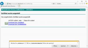 Download Certificate CertSrv