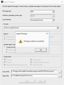 Trend Micro Client Packager Error solved