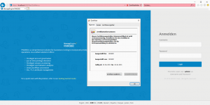 Webapplikation DLG_FLAGS_SEC_CERT_CN_INVALID