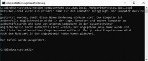 Rename Domain Controller