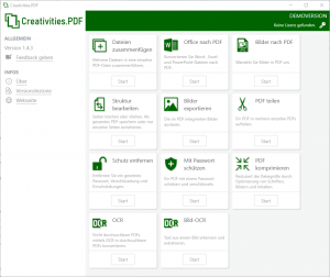 Creativities.PDF - Neue leistungsstarke PDF-Software