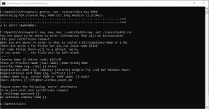 OpenSSL SubCA Signiert durch OpenSSL RootCA