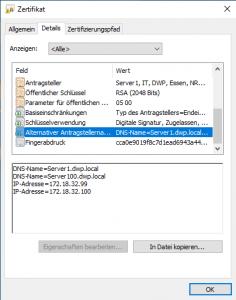 OpenSSL V3 Erweiterung