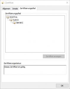 OpenSSL Zertifikatskette