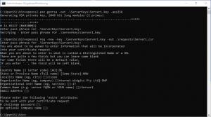 OpenSSL Zertifikatsrequest erstellen