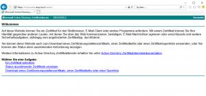 Webregistrierung Kerberos Authentifizierung
