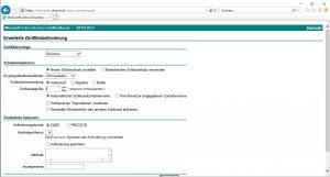 Zertifikatsdienste Webportal