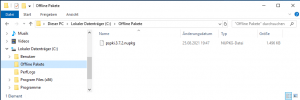 Offline Pakete lokale Repository