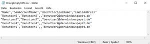 User bei denen die UPN nicht die E-Mail ist