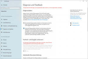 Diagnosedaten und Feedback