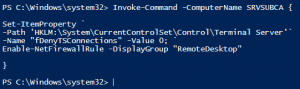 Remote Desktop per Powershell Remote aus der Ferne aktivieren