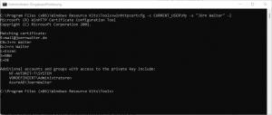WinHttpCertCfg Zertifikatkonfigurationstool