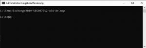 Exchange Security Updates als Admin ausführen